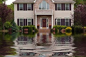 Water damage restoration services including flash flood damages from severe storms