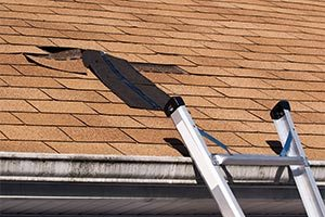 Water damage restoration services including roof leaks due to storm damage