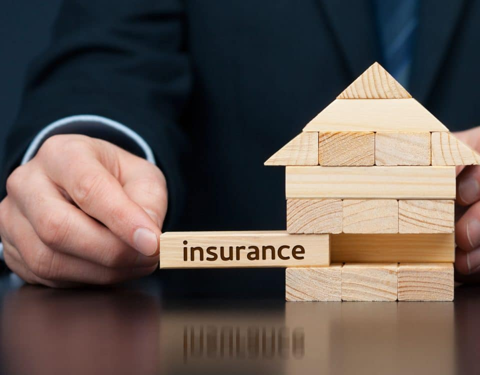 Family house insurance protection concept