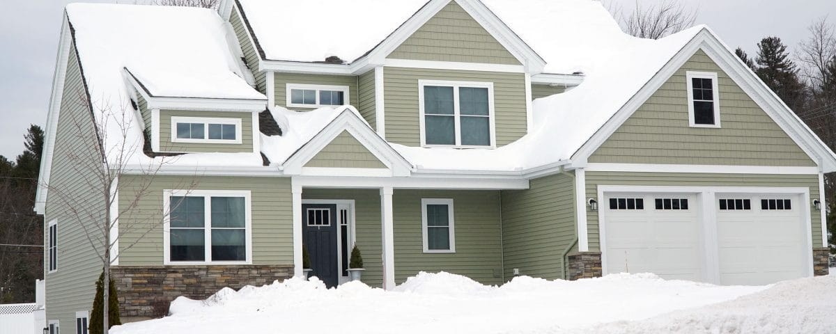 Exterior of a home after snowstorm